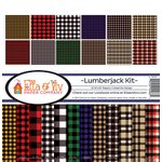 Ella and Viv Paper Company - Lumberjack Collection - 12 x 12 Kit