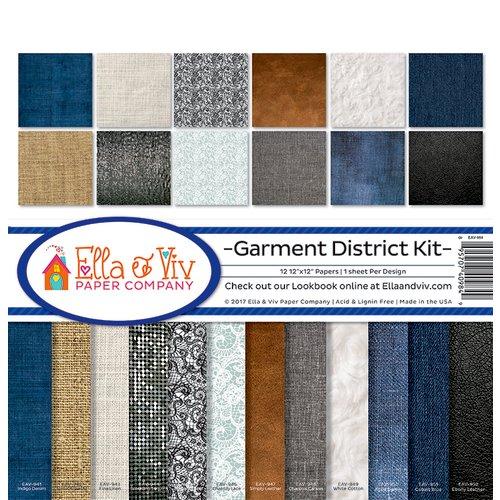 Ella and Viv Paper Company - Garment District Collection - 12 x 12 Kit