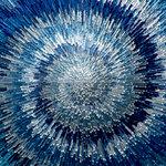 Ella and Viv Paper Company - Modern Art Collection - 12 x 12 Paper - Blue Swirl