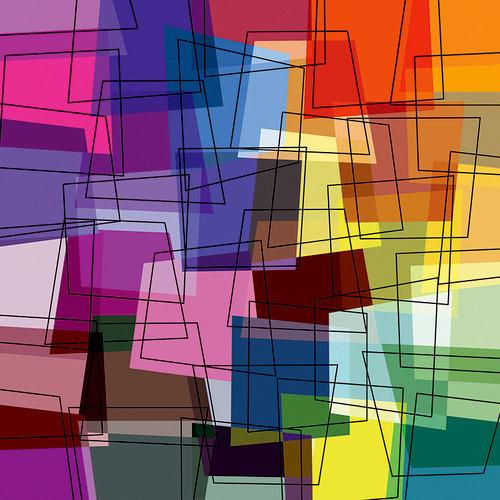 Ella and Viv Paper Company - Modern Art Collection - 12 x 12 Paper - Trapeze