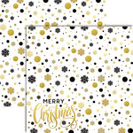 Reminisce - Elegant Christmas Collection - 12 x 12 Double Sided Paper - Christmas Elegance