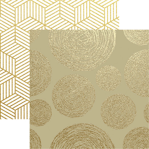 Reminisce - Elegant Christmas Collection - 12 x 12 Double Sided Paper - Christmas Glitz