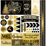 Reminisce - Elegant Christmas Collection - 12 x 12 Cardstock Stickers - Elements