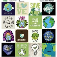 Reminisce - Earth Day Collection - 12 x 12 Cardstock Sticker Sheet - Squares