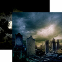 Reminisce - Eerie Night Collection - Halloween - 12 x 12 Double Sided Paper - Cemetery Secrets