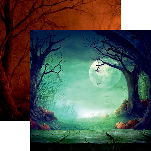 Reminisce - Eerie Night Collection - Halloween - 12 x 12 Double Sided Paper - Midnight Madness