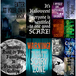 Reminisce - Eerie Night Collection - Halloween - 12 x 12 Cardstock Stickers - Poster