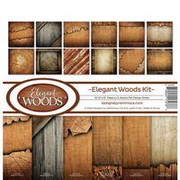 Reminisce - Elegant Woods Collection - 12 x 12 Paper Pack