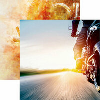 Reminisce - Easy Rider Collection - 12 x 12 Double Sided Paper - Live to Ride