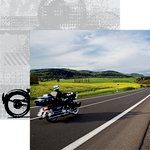 Reminisce - Easy Rider Collection - 12 x 12 Double Sided Paper - Open Road