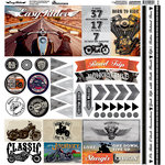 Reminisce - Easy Rider Collection - 12 x 12 Cardstock Stickers - Variety