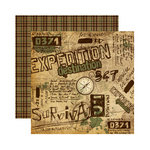 Reminisce - Expedition Destination Collection - 12 x 12 Double Sided Paper - Expedition Destination