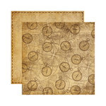 Reminisce - Expedition Destination Collection - 12 x 12 Double Sided Paper - Compass