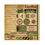 Reminisce - Expedition Destination Collection - 12 x 12 Cardstock Stickers - Alphabet