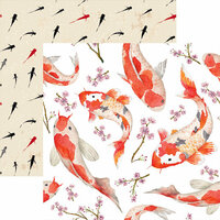 Reminisce - Everything Zen Collection - 12 x 12 Double Sided Paper - Koi Pond