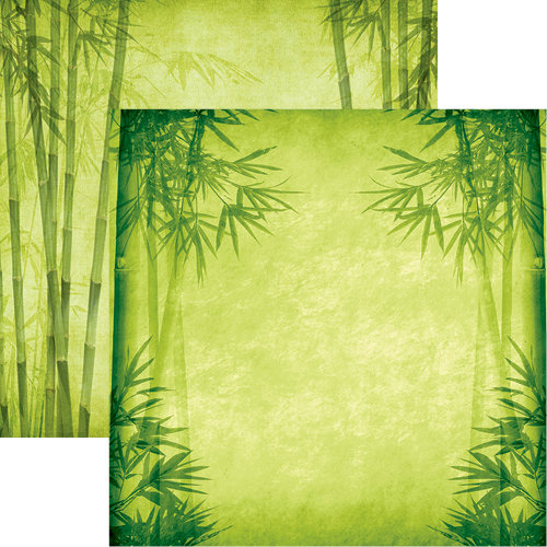 Reminisce - Everything Zen Collection - 12 x 12 Double Sided Paper - Bamboo Forest