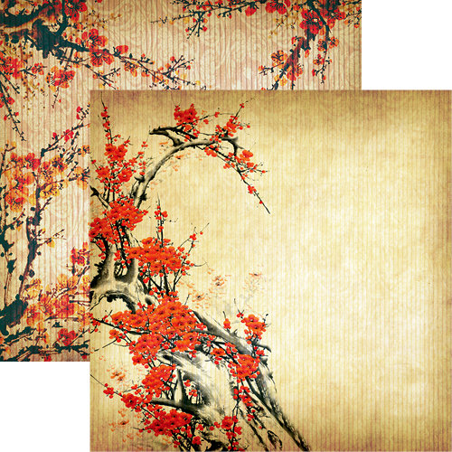 Reminisce - Everything Zen Collection - 12 x 12 Double Sided Paper - Peach Blossom