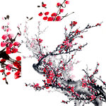 Reminisce - Everything Zen Collection - 12 x 12 Double Sided Paper - Plum Blossom