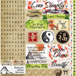 Reminisce - Everything Zen Collection - 12 x 12 Cardstock Stickers - Variety