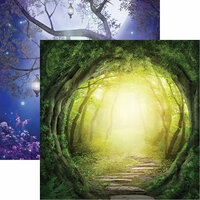 Reminisce - Fairy Forest Collection - 12 x 12 Double Sided Paper - Enchanted Road
