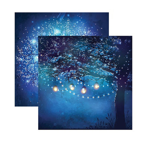 Reminisce - Fairy Forest Collection - 12 x 12 Double Sided Paper - Trees of Light