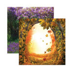 Reminisce - Fairy Forest Collection - 12 x 12 Double Sided Paper - Into the Hollows