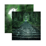 Reminisce - Fairy Forest Collection - 12 x 12 Double Sided Paper - Mystery Forest