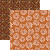 Reminisce - Fall into Fall Collection - 12 x 12 Double Sided Paper - Blessed