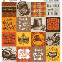 Reminisce - Fall into Fall Collection - 12 x 12 Elements Stickers