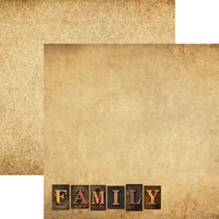 Reminisce - Family Collection - 12 x 12 Double Sided Paper - Family