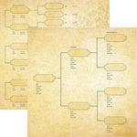 Reminisce - Family Tree Collection - 12 x 12 Double Sided Paper - Generations