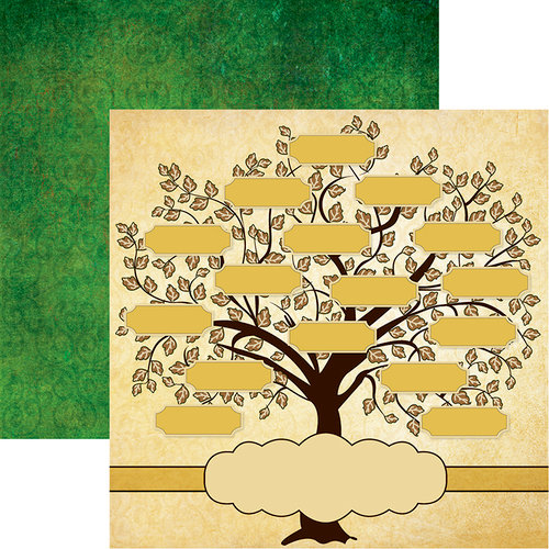 Reminisce - Family Tree Collection - 12 x 12 Double Sided Paper - Family Tree