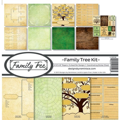 Reminisce - Family Tree Collection - 12 x 12 Collection Kit
