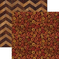 Ella and Viv Paper Company - Fall Rustica Collection - 12 x 12 Double Sided Paper - Rustic Leaves