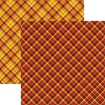 Ella and Viv Paper Company - Fall Rustica Collection - 12 x 12 Double Sided Paper - Fall Plaid