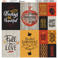 Ella and Viv Paper Company - Fall Rustica Collection - 12 x 12 Cardstock Stickers - Poster