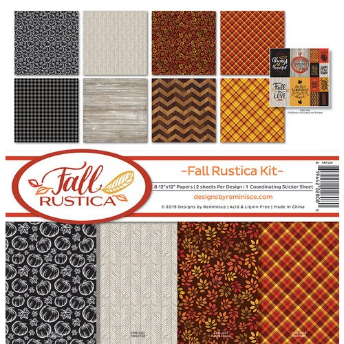 Ella and Viv Paper Company - Fall Rustica Collection - 12 x 12 Collection Kit