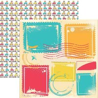 Reminisce - Family Vacation Collection - 12 x 12 Double Sided Paper - Adventure Begins
