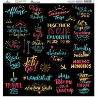 Reminisce - Family Vacation Collection - 12 x 12 Cardstock Sticker Sheet