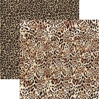 Reminisce - Fashion Week Collection - 12 x 12 Double Sided Paper - Leopard
