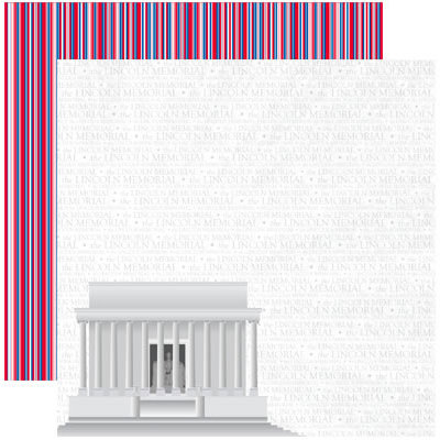 Reminisce - The 4th Collection - 12 x 12 Double Sided Paper - The Lincoln Memorial