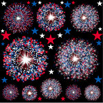 Reminisce - The 4th Collection - 12 x 12 Cardstock Stickers - Fireworks