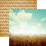 Reminisce - Farm Fresh Collection - 12 x 12 Double Sided Paper - Wheat Fields