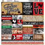 Reminisce - Farm Fresh Collection - 12 x 12 Cardstock Stickers
