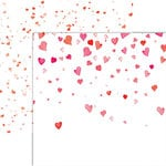 Reminisce - Forever Hearts Collection - 12 x 12 Double Sided Paper - Falling Hearts