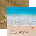 Reminisce - Florida Collection - 12 x 12 Double Sided Paper - Florida