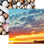 Reminisce - Florida Collection - 12 x 12 Double Sided Paper - Sunset
