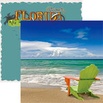 Reminisce - Florida Collection - 12 x 12 Double Sided Paper - Toes in the Sand