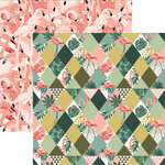 Reminisce - Florida Collection - 12 x 12 Double Sided Paper - Pretty In Pink