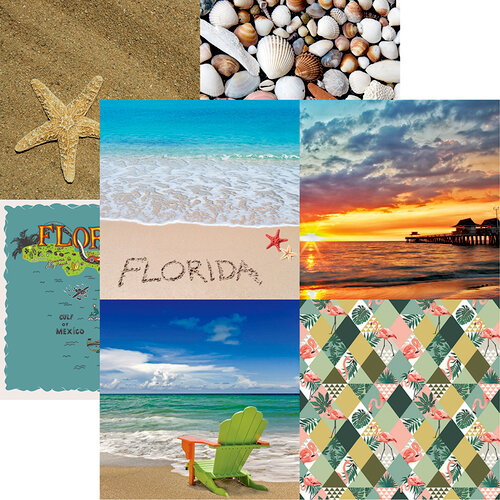 Reminisce - Florida Collection - 12 x 12 Double Sided Paper - Cut Apart